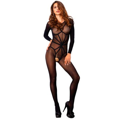 OPAQUE ILLUSION BODYSTOCKING REALZADOR DE LEG AVENUE - Click Image to Close
